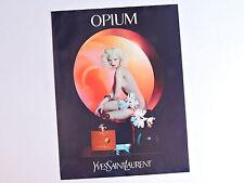 Publicidad YVES SAINT LAURENT Opium Anuncio Advert Publicite Perfume Parfum YSL