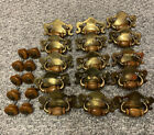 Vintage Brass Color Dresser Drawer Pulls And Wood Knobs. Classic Style