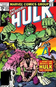 "THE INCREDIBLE HULK  #223 COMIC BOOK COVER 11""x17"" POSTER PRINT"