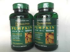 2 Puritan's Pride Pumpkin Seed Oil 1000 MG ** For Men Prostate & Urinary Health*