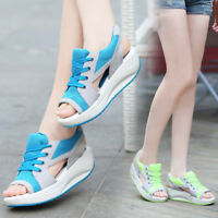 New Women's Summer Outdoor Sandal Thick Platform Open Toe Shoes Breathable Comfy