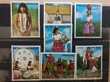 PARAGUAY 1973 folk customs 7 stamp set MNH