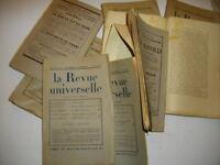 """LA REVUE UNIVERSELLE""  no 11 1938 / Sans-Souci / Ajaccio / Marseille / Europe"