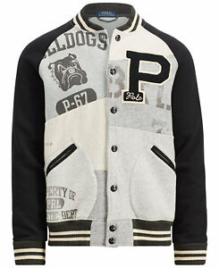 Polo Ralph Lauren Stadium Patchwork Letterman Varsity Rugby Baseball Jacket Men