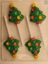 CHRISTMAS TREE WITH CANDY DIMPLES CLEAR PLASTIC CHOCOLATE CANDY MOLD C185
