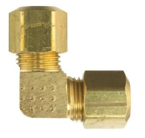"""Plumb Shop Compression Elbow 1/4""""- 3/8""""- 1/2""""- 5/8""""  OD TUBE BOTH ENDS   #3120"""
