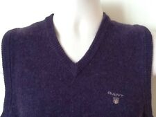 GANT LAMBSWOOL TANK TOP SLEEVELESS JUMPER SWEATER SIZE M PURPLE