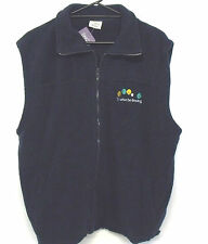 Polar Fleece Vest  I'd Rather Be Bowling lawn bowls novelty NAVY sizes S XL 2XL