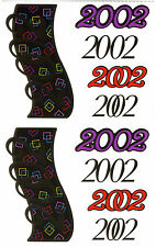 Mrs. Grossman's Giant Stickers - 2002 Year Numbers - Reflection - 2 Strips