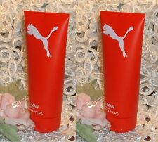 LOT ~ PUMA RED ~ Women ~ 6.8 oz / 200ml EACH ~Perfume d Shower Gel ~
