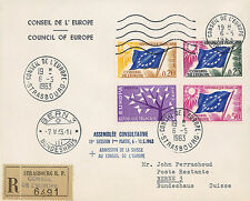 """CE15-IaT1 Registered FDC Council of Europe """"Switzerland Membership"""" 05-1963"""