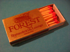Matches Matchbook: The FOREST Restaurant & Lounge, Mandeville, LOUISIANA; CLOSED