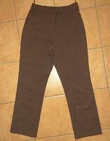 braune Damen-Hose OF THE WORLD JUNGE MODE 36-38 S braun-beige gestreift Stoff