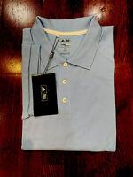 Adidas Men's Short Sleeves Clima Lite  Cotton Golf Polo, Medium Blue, 2XL.