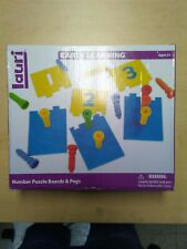 Lauri Early Learning Number Puzzle Boards And Pegs