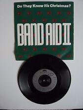 "Band Aid II Do They Know It's Christmas? 1989 UK 7"" Vinyl Single S.A.W. Xmas"
