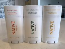 Native Paraben Free Deodorant Three Pack Assorted Scents