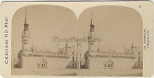 La Rochelle L'hôtel de Ville France Stéréo par Neurdein Vintage Albumine ca 1880
