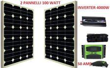 Kit Fotovoltaico 2 Kw Giornaliero Pwm Inverter 4000w Isola Solare Pannello 100 W