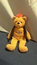Hard Rock Cafe Washington DC Beanie Teddy Bear Plush w/Faux Leather Jacket  (P3)
