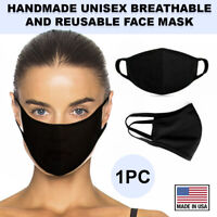 Black Face Mask Cotton Double Layer Washable Reusable Cover Protection USA