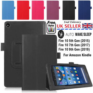 "Smart Foldable Flip Folio Leather Stand Case Cover AMAZON KINDLE 10"" (2015-19)"