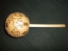 "Beautiful Design Natural Coconut Shaker~ Musical Instrument~ Decor~""Mint"""
