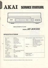 AKAI Service Anleitung Manual Semi automatic player AP-MX550   B1138