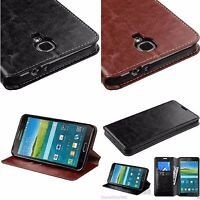 Hybrid PU Leather Stand Wallet Case for Samsung Galaxy Phones Mega 6.3, Mega 2