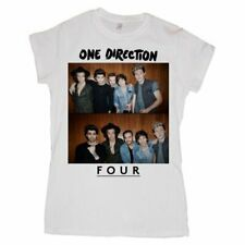 One Direction Ladies Tee: Four with Skinny Fitting