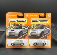 2021 Matchbox '03 Mini Cooper S #73 Metalflake Gray - Set of 2