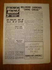 MELODY MAKER 1945 #649 JAZZ SWING MUSIC MILLWARD CIRCUS