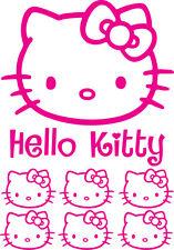 HELLO KITTY 8 STICKERS Format A4 sticker MURAL AUTO autocollant coloris au choix