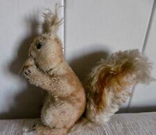Antikes  Steiff Eichhörnchen 40/50er mit Samtnuss Holzwolle - Fühlung 20 cm rar
