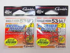 Gamakatsu - 2pack x SINGLE HOOK 53 SALT HYPER SHIELD #2