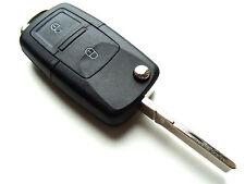 VW Golf Passat Polo Touareg 2 Botones Flip Remoto Clave Fob caso (en blanco del peligro hoja)