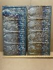 2pc Lot of 24' by 12' Antique Ceiling Tin Metal Reclaimed Salvage Art Craft