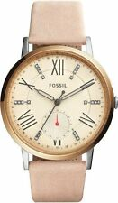 Fossil Women's Gazer Pinkish Tan Leather Strap 40mm Watch ES4163 NEW!