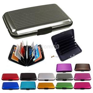 Useful Pocket Aluminum Metal Business ID/Credit Card Case Storage Box Holder New
