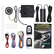 Car Alarm System Set Push Button to Start/Stop Engine Ignition with 2* Remotes