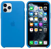 2020 iPhone 11 Pro Apple Echt Original Silikon Hülle Case Surfblau Surf blue