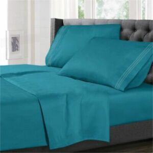 Extra Deep 25cm Fitted Sheet 100% Poly Cotton Single Double King Size Bed Sheets