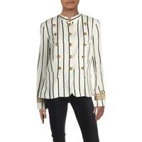 Lauren Ralph Lauren Womens Brandalie  Linen Military Jacket Outerwear BHFO 5567