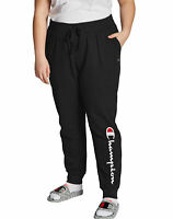 Champion Women's Plus Size Fleece Sweatpants Power Joggers Vertical Script Logo