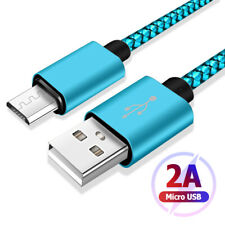 For iPhone Lightning Cable Android Micro USB Charger Braided Cord 3.3ft-9.8ft F