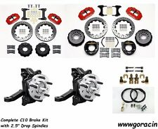 "Wilwood Brake Kit 1963-1986 Chevy C10,14""/13"" Drilled Rotors,Red,2.5"" Spindles"