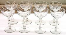 "(8) HALIFAX LIBBEY 5 3/4"" Rock Sharpe Cordial ~  Wine ~  Goblets - Glasses EUC"