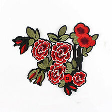 Peony Pattern China Stylish Embroidered Applique Decoration Sew on Patches Cloth