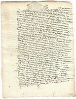 1697 LOUIS XIV royal notary signed manuscript document INCREDIBLE READY TO FRAME