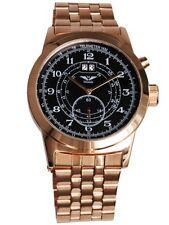 Minoir Uhren - Modell Baugy rotgold/schwarz Ø 47 mm Herrenuhr Automatikuhr